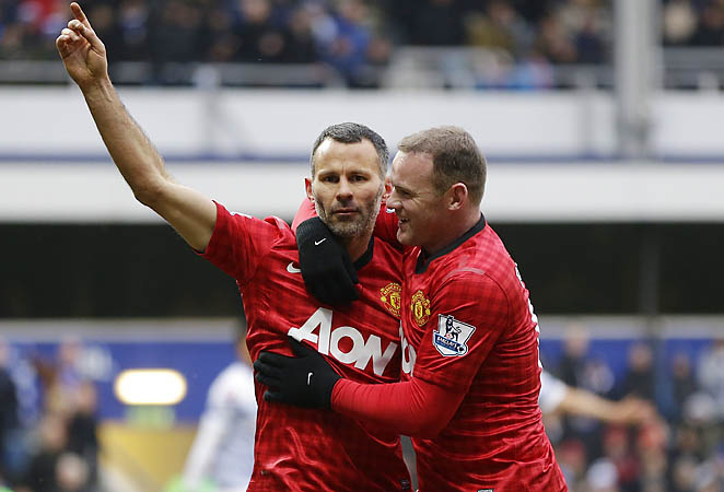 Ryan Giggs (left) has been with Manchester United since 1990.
