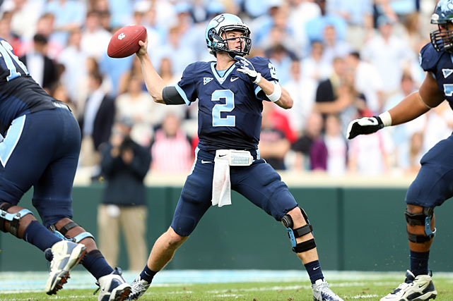 An efficient passer, Renner has completed two-thirds of his attempts over two seasons as the starter at North Carolina. His yards-per-attempt average isn't on par with Clemson's Boyd, but Renner threw just seven interceptions in 2012. Renner's 6,442 yards and 54 touchdowns over the past two years rank him among the top quarterbacks to watch in the ACC in 2013.