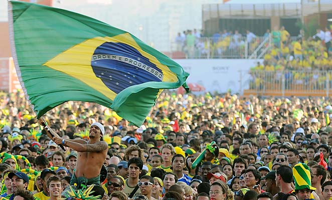 Brazil is known for having some of the most boisterous sports fans in the world.