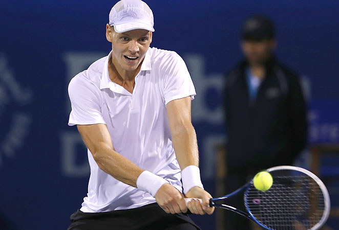 Tomas Berdych lost in the final of the Dubai Championships to Novak Djokovic.