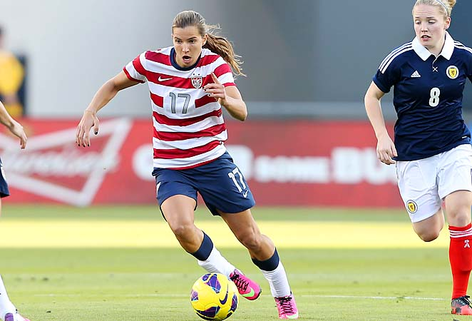Tobin Heath and the U.S. national team opened up the Algarve Cup against Iceland on Wednesday.