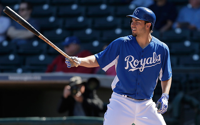 Eric Hosmer slumped badly in 2012, but has excelled this spring by hitting three opposite field homers.