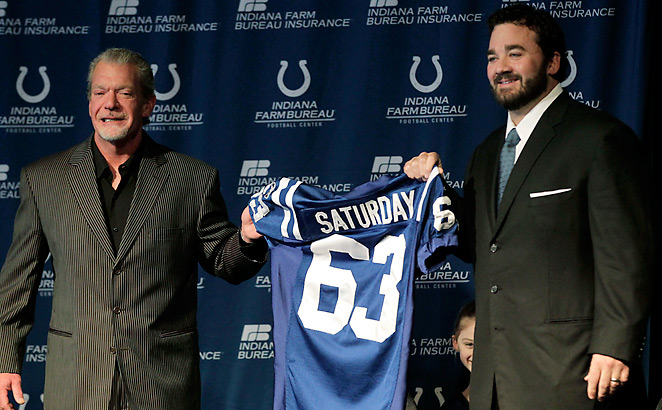 Jeff Saturday made six Pro Bowls in 13 seasons, including five with the Colts.