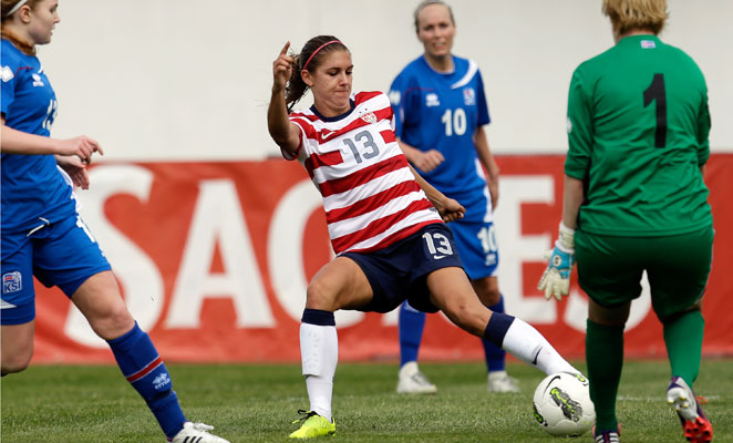 Alex Morgan has more Twitter followers than any other U.S. soccer player, male or female.