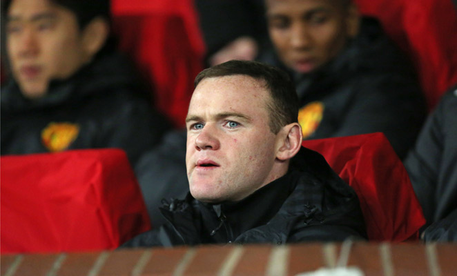 Wayne Rooney was relegated to the bench against Real Madrid and was a second-half substitute.