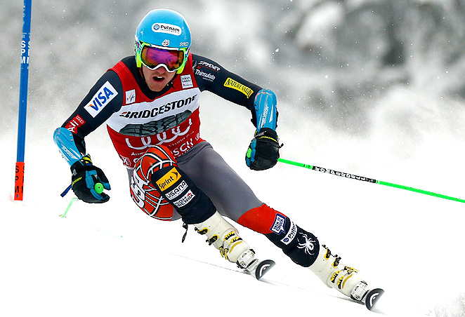 Ted Ligety leads Marcel Hirscher in the World Cup giant slalom standings, and he will secure the crystal globe if he wins on Saturday.