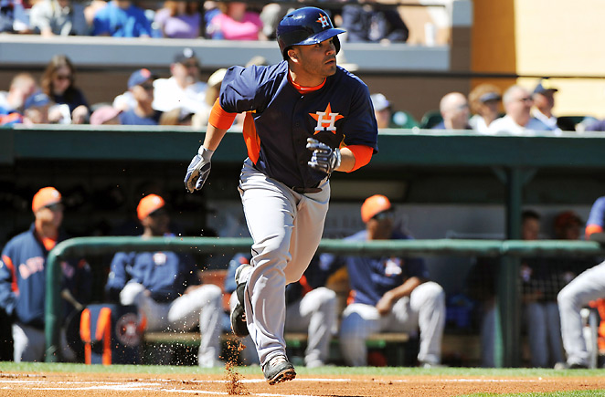 Houston Astros second baseman Jose Altuve won't hit for power, but he'll be a cheap source of steals.