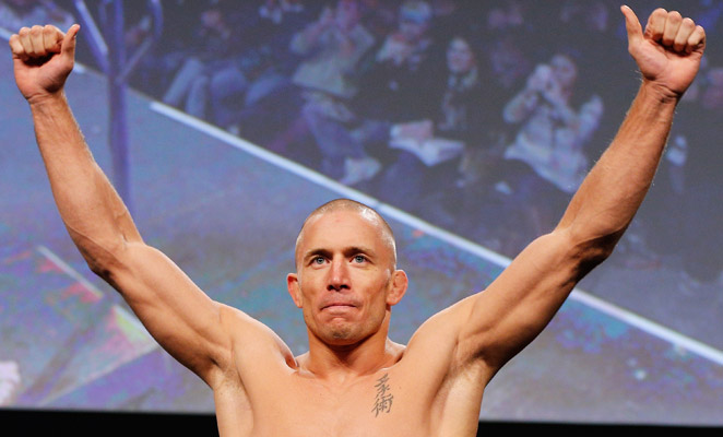 """Georges St.-Pierre (above) has called Nick Diaz """"the most disrespectful human being I've ever met."""""""