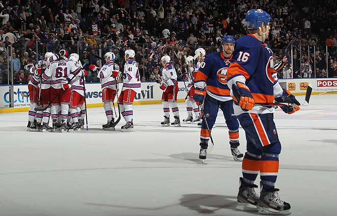 The Rangers came back to beat the Islanders in overtime on Thursday night on a Marian Gaborik goal.