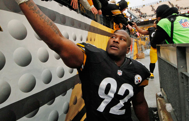 Five-time Pro Bowler James Harrison has played his entire 10-year career in a Steelers uniform.