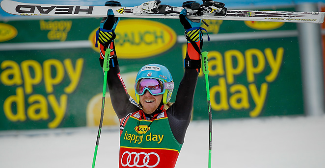 The U.S.'s Ted Ligety won the World Cup giant slalom on Saturday, his fifth giant slalom win this year.
