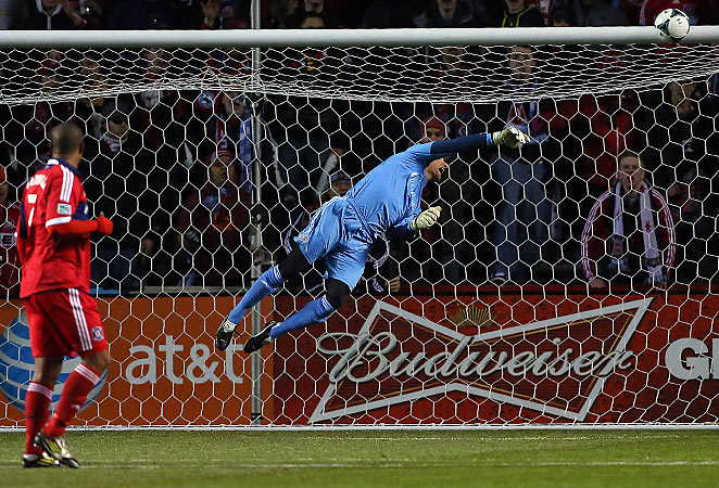 Matt Reis can count this among several saves he made to keep a clean sheet against Chicago Fire Saturday night.