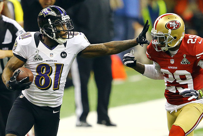 The Ravens stiff-armed Boldin's insistence on a new contract by trading him to the 49ers