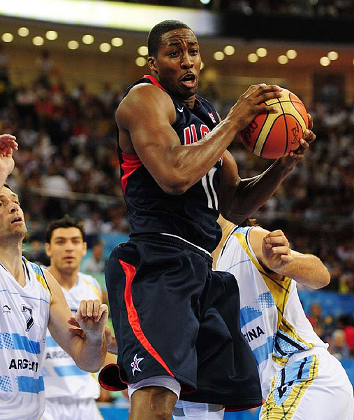 With Howard at center, Team USA marched to gold at the 2008 Beijing Games, its first gold since the 2000 Olympics. Alongside LeBron James and Carmelo Anthony, Howard averaged 10 points (on 81.4 percent shooting) and 5.3 rebounds.