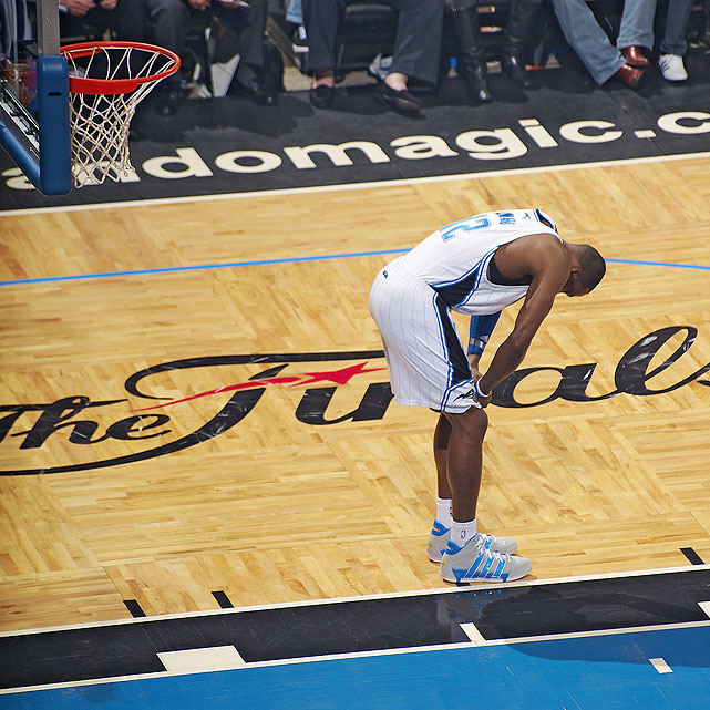 "Facing the Lakers in the Finals, the Magic disappointed, falling in five games as Phil Jackson captured title No. 10. Howard played well throughout the series, averaging 15.4 points and 15.2 rebounds and recording a Finals-record nine blocks in Game 4. ""It hurts,"" Howard told reporters. ""It hurts a lot. But you can learn a lot from losing. Sometimes you've got to lose to win."""