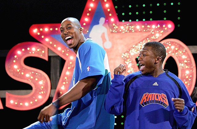"""In 2007, Howard made his first trip to All-Star weekend as a reserve and a participant in the Slam Dunk Contest (in which he failed to make the final round). He finished with 20 points and 12 rebounds in the All-Star Game. """"Dwight's a monster,"""" East coach Eddie Jordan said. """"He defends the rim. He's just scratching the surface offensively. He's a great piece to build your franchise around."""""""