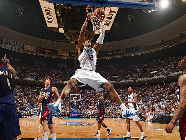 Howard and the Magic overwhelmed regular-season MVP LeBron James and the Cavaliers in the Eastern Conference finals, defeating the Cleveland in six games. Howard dominated inside throughout the series, with his best performance coming in Game 6, when he finished with a playoff-career-high 40 points and 14 rebounds.