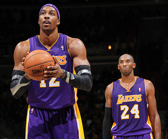 """With unrestricted free agency looming, Howard refused to commit long term to the Lakers, saying that his """"only focus"""" was getting the team into the playoffs and that """"nothing else [mattered] at this point."""" Despite fears that Howard might leave in the offseason, the Lakers opted not to trade him at the deadline."""
