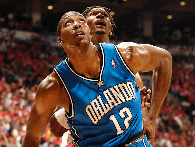 Howard earned his first playoff-series victory in 2008, averaging 22.6 points, 18.2 rebounds and 3.8 blocks as the Magic knocked off the Raptors in five games in the first round. The Magic would go on to lose to the Pistons 4-1 in the next round.