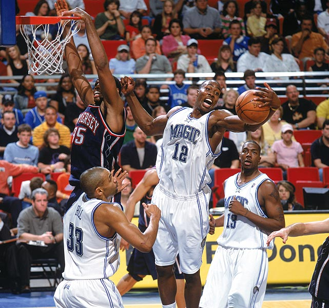 During his rookie year, Howard became the first player straight of high school to start all 82 games and the youngest player to have a 20-point, 20-rebound performance. He was a unanimous selection to the All-Rookie First Team, but finished behind Emeka Okafor and Ben Gordon in the Rookie of the Year voting.