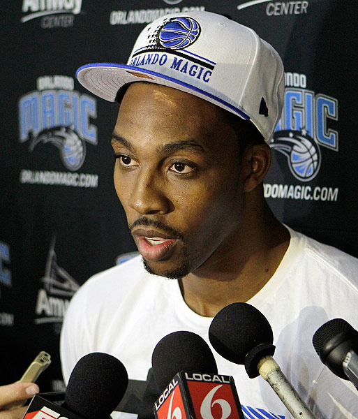 """After the NBA lockout concluded, Howard entered training camp with a public trade request. """"You only get one time around,"""" he told reporters on Dec. 11. """"You get one chance at this. ... I really love Orlando. I've given a lot for this community, and it's not because I want people to say, 'Well, he gives us money.' I do it because I care."""" The soon-to-be Brooklyn Nets are reportedly his first choice."""