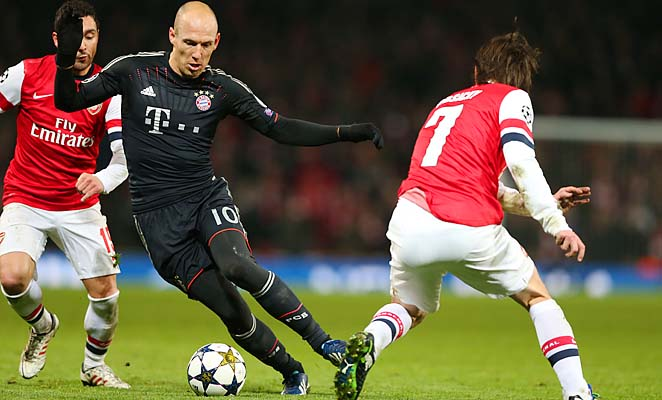 Arjen Robben and Bayern Munich are many's favorites to win the Champions League.