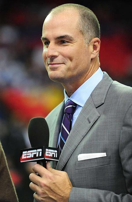 One of the most thoughtful voices on college basketball, Duke alum Bilas won't be calling any tournament matchups for CBS or Turner but he'll be seen on a near-nightly basis on ESPN analyzing the game. He'll also call one of the Final Four games for ESPN International.