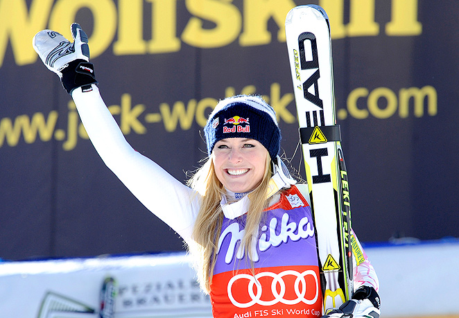 Lindsey Vonn could return to skiing at the World Cup event in Austria after completing rehab from a repaired knee.