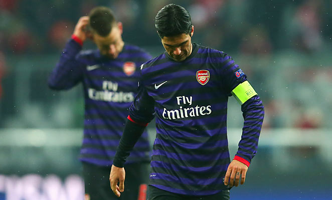 Mikel Arteta and Arsenal are out of the Champions League despite winning 2-0 at Bayern Munich.