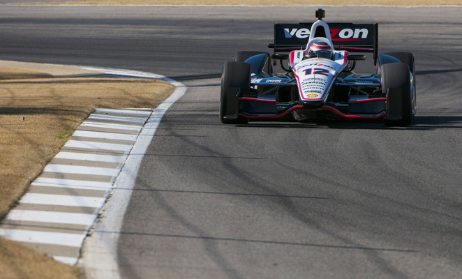 Will Power recorded the fastests lap in the second day of IndyCar testing at Barber Motorsports Park