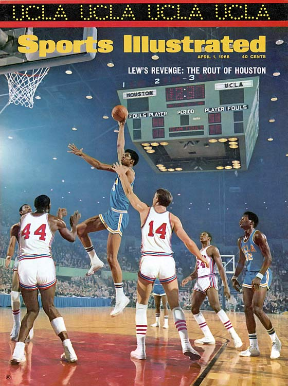 They may have lost to underdog Houston in the Game of the Century, but the Bruins wouldn't be down for long. When the two met again in 1968's Final Four, Lew Alcindor-led UCLA wasted little time in asserting its dominance and handed the Cougars a 32-point loss. The Bruins would go on to top North Carolina, as well, and claim the national title.