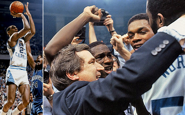 A team that featured James Worthy, Sam Perkins and Michael Jordan was always going to prove memorable. But Jordan's dramatic late jumper to push North Carolina ahead of Patrick Ewing-led Georgetown immortalized these Tar Heels with the school's second national title.