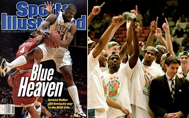 "Nicknamed ""The Untouchables,"" Kentucky entered the '96 tournament as the first team to sweep SEC play in 40 years. The momentum didn't stop there, as the Wildcats claimed the school's sixth national title and the record as the winningest program in NCAA history. After the season ended, nine of its players were drafted into the NBA."