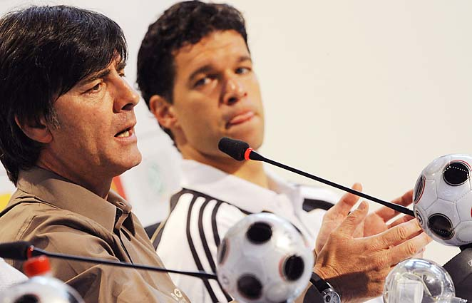 Michael Ballack (right) played for Joachim Loew at Euro 2008.