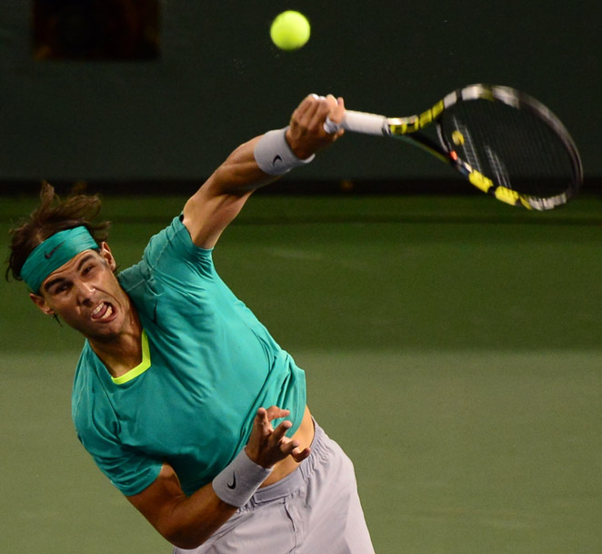 Rafael Nadal avenged his 2012 loss to Roger Federer at Indian Wells with a straight-set win in 2013.
