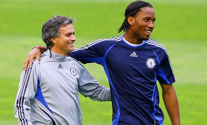 Former Chelsea coach and player Jose Mourinho and Didier Drogba will reunite in the quarterfinals.