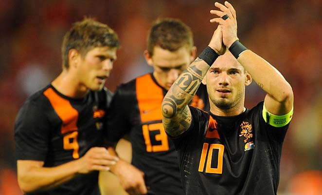 Wesley Sneijder (right) was the key to the Netherlands' run to the World Cup final in 2010.