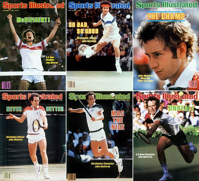The notoriously indignant McEnroe won 77 singles titles in his career, including seven Grand Slams. Including doubles and mixed doubles titles, McEnroe won 17 Grand Slam tournaments. He recorded arguably the greatest season in tennis history in 1984, when he won 96.47 percent of his matches, including Wimbledon and U.S. Open titles. The excellent volleyer had fantastic rivalries with Bjorn Borg, Jimmy Connors and Ivan Lendl in his career.