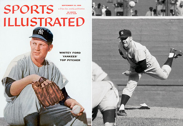The Hall of Fame pitcher led the American League in wins three times in his 16-year Major League career. Ford made eight All-Star Games and won the 1961 Cy Young Award when he won 25 games and pitched 283 innings. He helped the Yankees win six World Series.