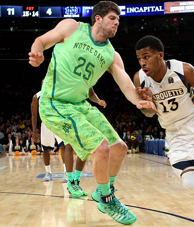 Notre Dame broke out its new basketball uniforms at the 2013 Big East tournament, creating a wave of criticism. The neon lime-green uniforms may have tried to associate with the Irish, but it proved the Fighting Irish should stick to their traditional colors of blue and gold.