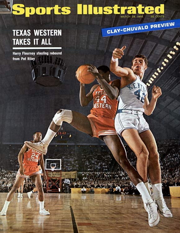 Now immortalized in the movie <italics>Glory Road</italics>, Texas Western was the first team to have five African-American starters. The Miners, coached by Don Haskins, fought through a field of 22 teams to face Kentucky in the championship game, in which they upended the heavily favored, and all white, Wildcats, 72-65.