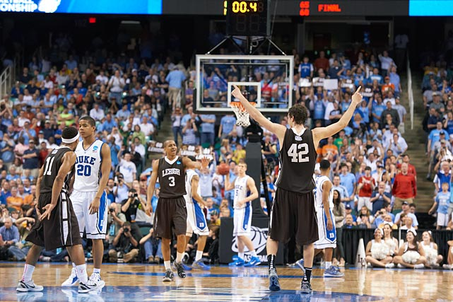 The Mountain Hawks carried an eight-game winning streak into the tournament, but that was as far as it was supposed to go. C.J. McCollum scored 30 points as Lehigh went into its first-round matchup against Duke without fear and reaped the rewards, winning 75-70 and becoming the second No. 15 seed to upset a No. 2 seed in the 2012 tournament.