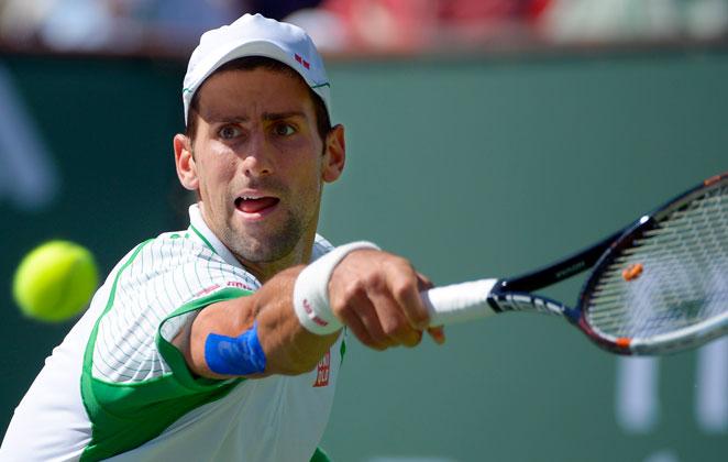 No. 1 seed Novak Djokovic dispatched Jo-Wilfried Tsonga in straight sets, 6-3, 6-1, Friday.