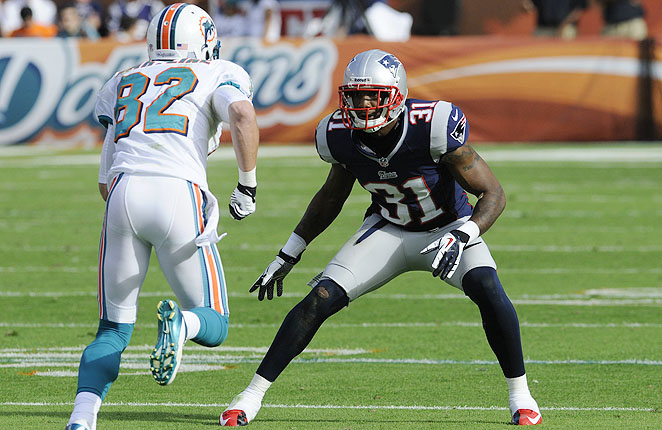 Aqib Talib played in just six games for the the Patriots in 2012, but boosted a struggling secondary.
