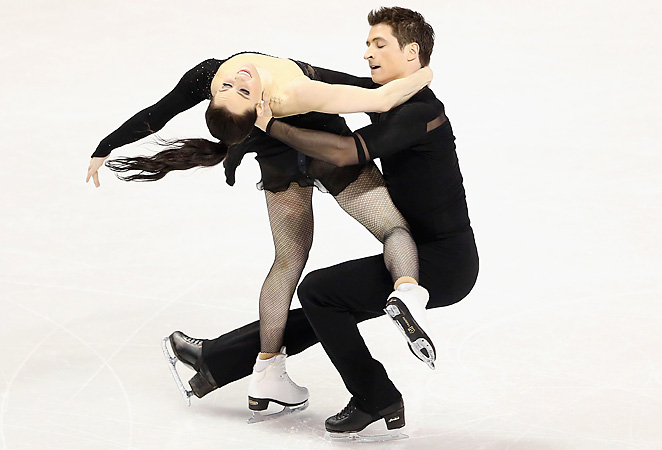 Canadians Tessa Virtue and Scott Moir came in second on their home ice at the World Championships.