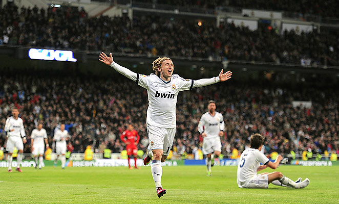 Luka Modric scored Real Madrid's third goal in their 5-2 win over Mallorca on Saturday.