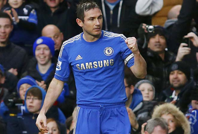 Frank Lampard and Chelsea are in third place in the English Premier League.