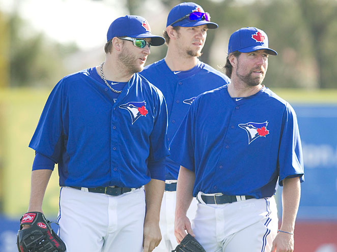 Newly-acquired Mark Buehrle, Josh Johnson and R.A. Dickey give Toronto one of the best rotations in the game.