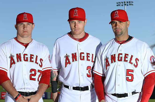 Mike Trout and Josh Hamilton and Albert Pujols will give the Angels arguably the most talented lineup in baseball.