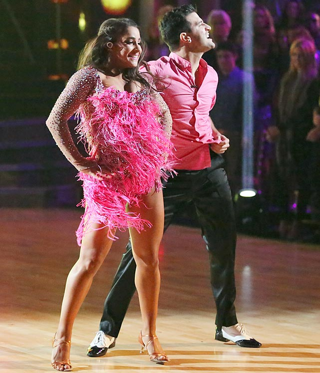 The Olympic champion gymnast finished in 4th place with dancing partner Mark Ballas.